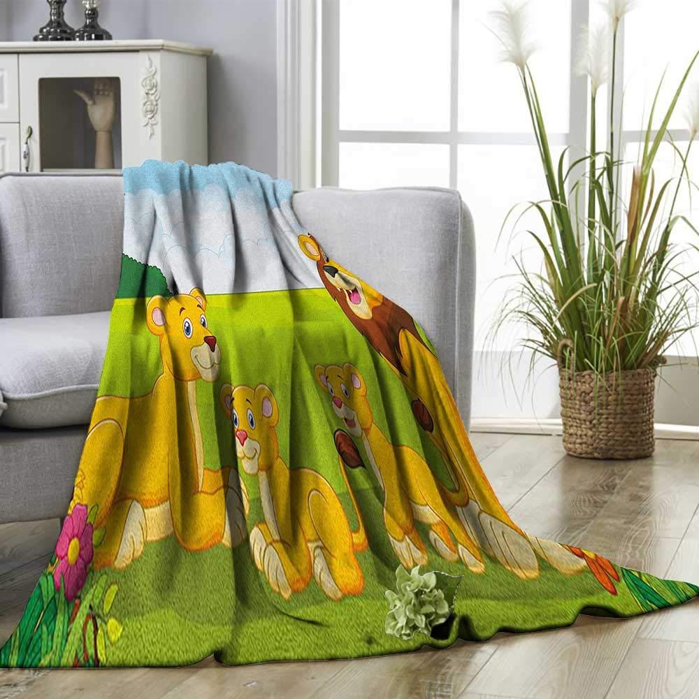 Amazon.com: Superlucky Nursery Throw Blanket Cartoon Style ...