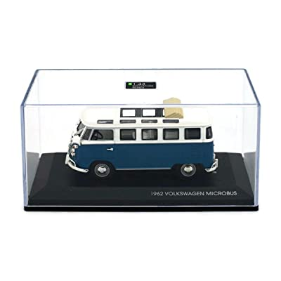 Road Signature 43208 1962 Volkswagen Microbus Bus Van With Open Roof Orange 1/43 Diecast Model Car: Home & Kitchen