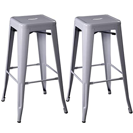 Miraculous Amazon Com Heize Best Price 2 Pcs Of Gray Home Bar Antique Short Links Chair Design For Home Short Linksinfo