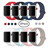 Amazon Price History for:SIRUIBO Band for Apple Watch 38mm 42mm, Soft Silicone Sport Strap Replacement Bracelet Wristband for Apple Watch Series 3, Series 2, Series 1, Nike+, Edition, S/M M/L Size