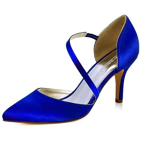 nueva llegada 163a8 11593 ElegantPark HC1711 Punta Estrecha de Las Mujeres Tacones de Aguja Zapatos  de tacón Alto Correas Boda Fiesta de graduación Zapatos de Novia