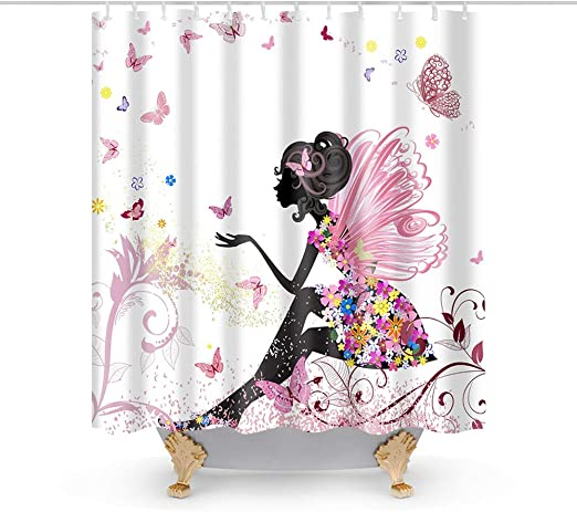 "Fabric Shower Curtain Set Bathroom Decor with Hooks Waterproof Washable 72/""x 72/"""