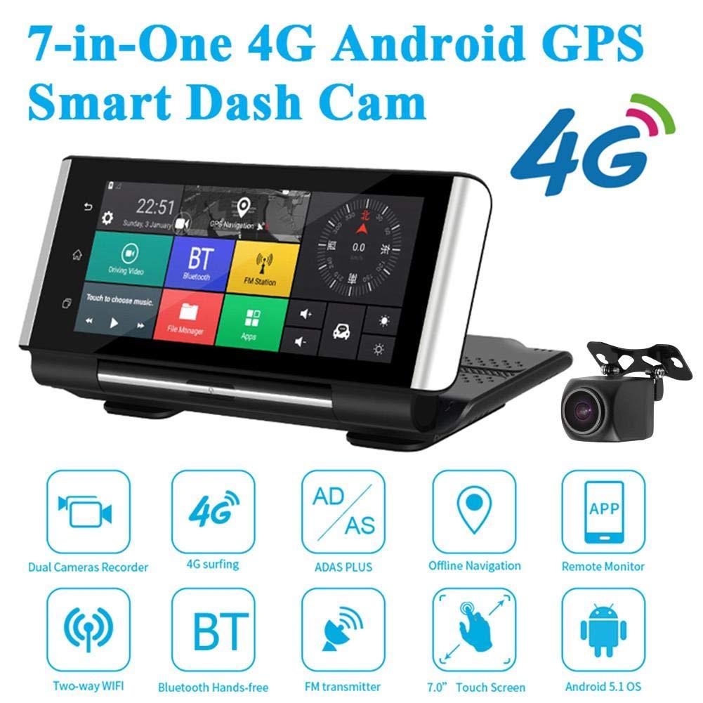 Phisung K6 Dash CAM Consola Central 7 en Android 5.1 4G cámara DVR ...