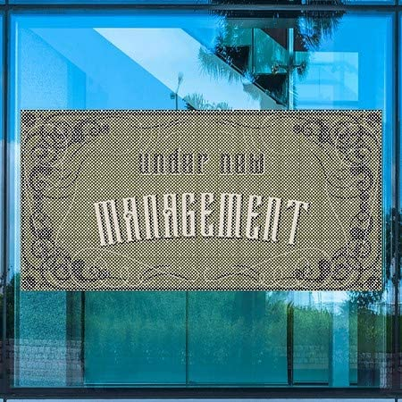 CGSignLab Under New Management Victorian Gothic Perforated Window Decal 96x48