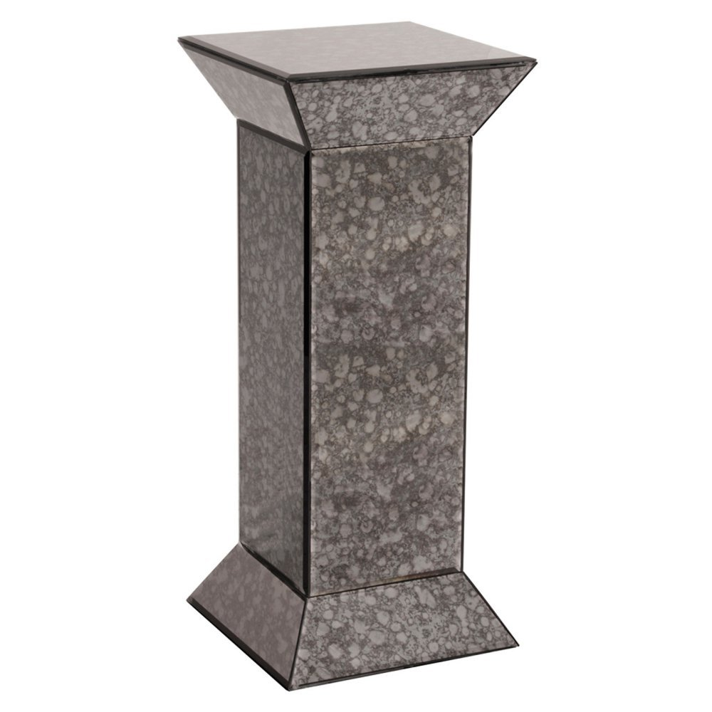 Howard Elliott Collection 99005 Atlas Antique Mirrored Pedestal, Grey