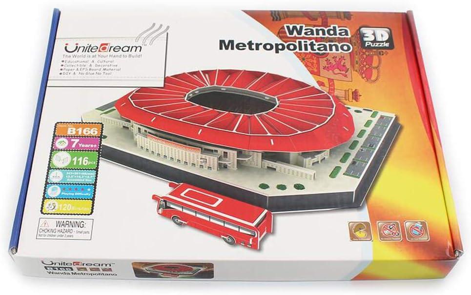 Rompecabezas 3D del Estadio Mundial de Fútbol, Campeonato de la Liga Española Madrid Estadio Metropolitano Wanda DIY Puzzle Model, Juguetes Educativos: Amazon.es: Deportes y aire libre