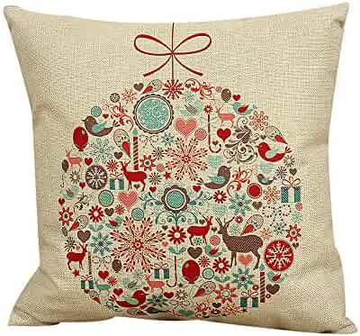 Pgojuni Durable Square Throw Pillow Cover Cushion Cover Pillow Case for Sofa/Car/Bed 1pc (D)