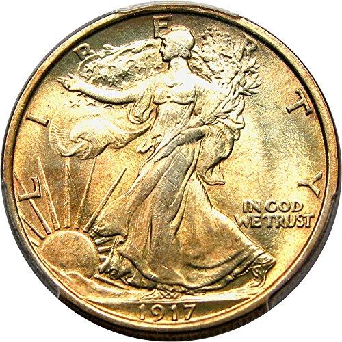 1917 S Walking Liberty Halves Mintmark Reverse Half Dollar MS65 (Walking Liberty Half Dollar Mintmark)