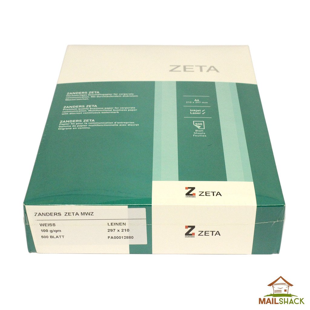 PREMIUM ZANDERS ZETA Ivory Hammer Textured A4 Paper 100gsm •Watermark Card Craft