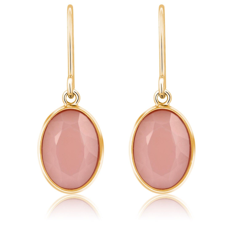 Dangle Earrings,UHIBROS Women\'s Stone Crystal Dangle Drop Earrings (Pink)