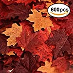 Echodo-600PCS-Artificial-Maple-Leaves-Decorations-Autumn-Fall-Leaves-for-Thanksgiving-Autumn-Leaf-Wedding-Party