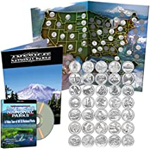 First 35 America the Beautiful Coins in Deluxe Color Book