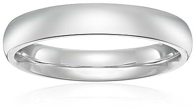 Amazoncom Standard Comfort Fit 18K Gold Wedding Band 4mm Jewelry