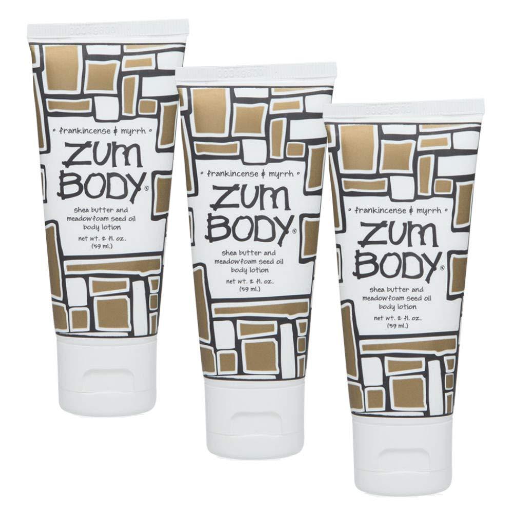 Indigo Wild Zum Body Lotion, Frankincense & Myrrh, 2 fl oz (3 Pack)