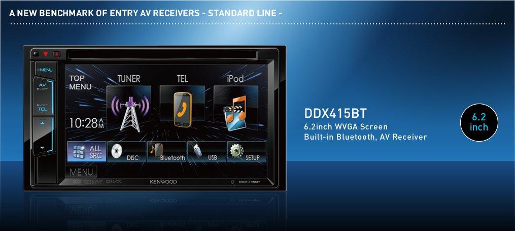 Kenwood DDX415BT Black Front Center Car Digital Media Receiver For