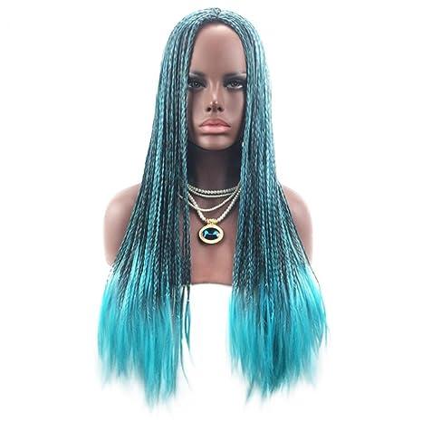 Amesii Peluca de mujer larga, trenzada, de pelo sintético, para disfraz, de moda: Amazon.es: Belleza