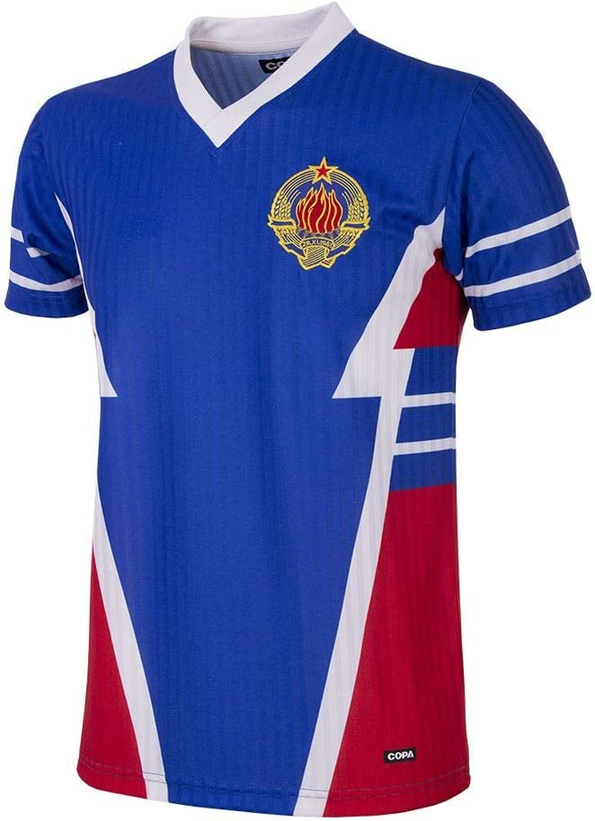 Copa Yugoslavia 1990 Retro Football Shirt - Camiseta Retro de fútbol con Cuello en V. Hombre: Amazon.es: Deportes y aire libre