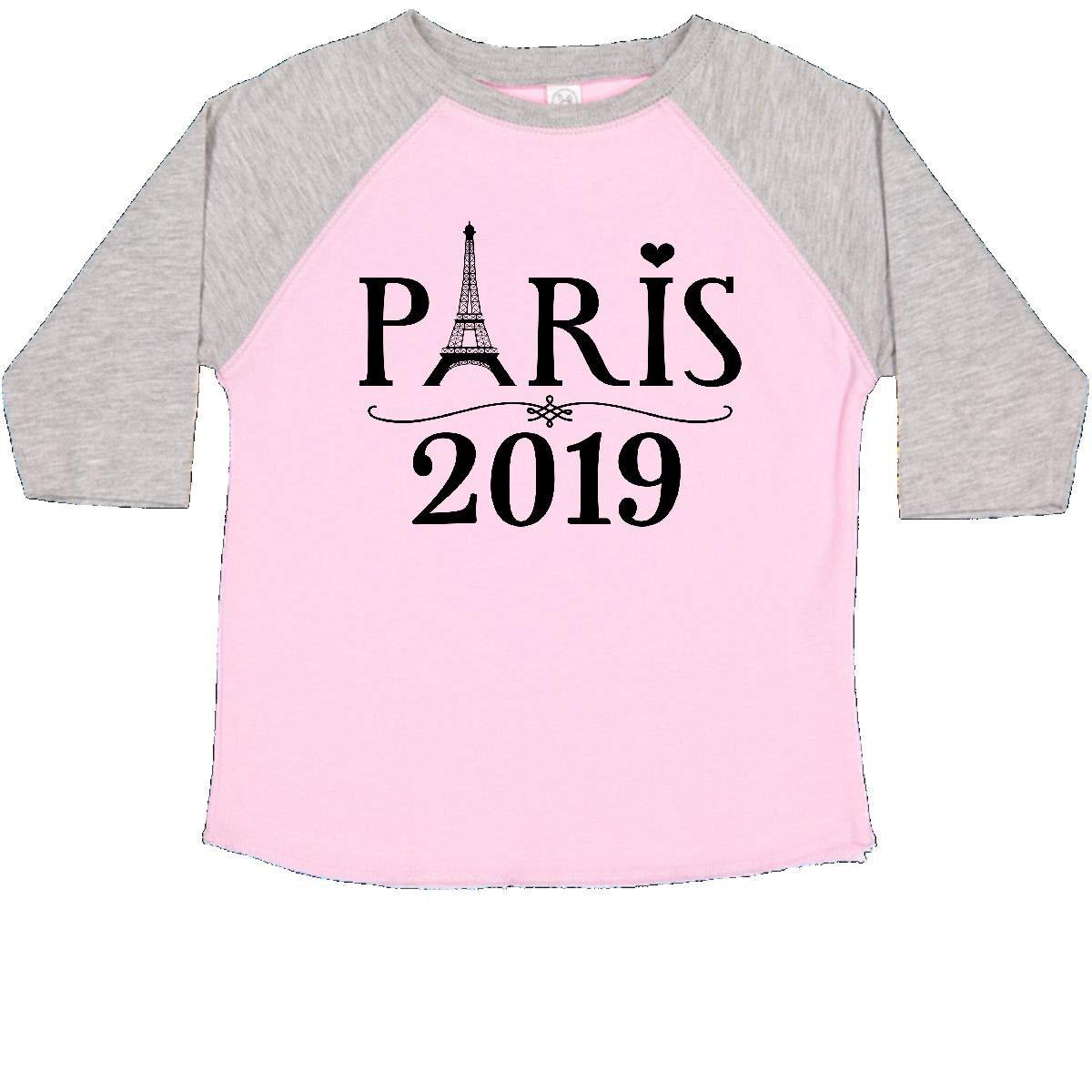 inktastic Paris France 2019 Vacation Trip Toddler T-Shirt