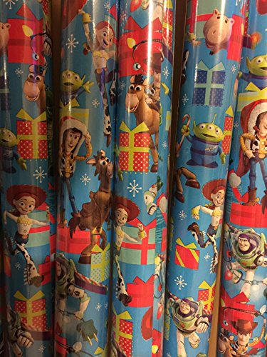[Christmas Wrapping Toy Story Holiday Stockings Paper Gift Greetings 2 Roll Design Festive Wrap Woody Buzz] (Scary Woody Toy Story Costume)
