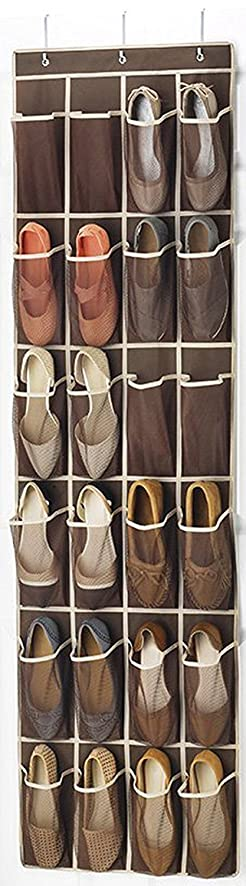 Zober Over The Door Shoe Organizer   24 Breathable Pockets, Hanging Shoe  Holder For Maximizing