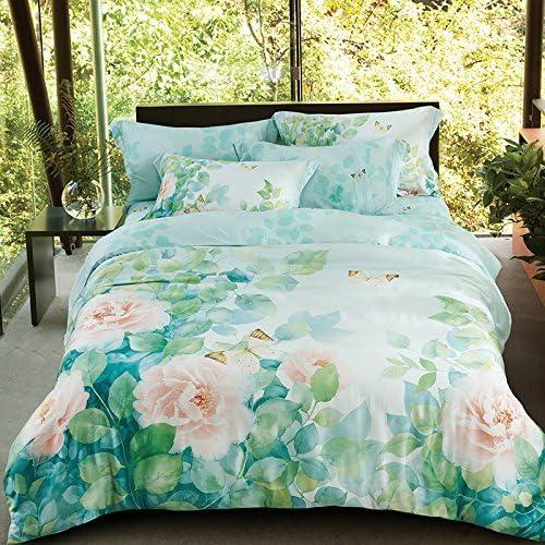 寝具布団カバー 竹繊維テンセルの寝具は、新鮮な春を設定し、柔らかい通気性の織物、CH0020X、220 * 240センチメートルパッケージの要約 キルト掛け布団寝具セット