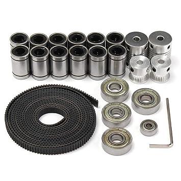 Yongse 2M 3D Correa Dentada + polea de Aluminio + Eje del coplador+LM8UU+608ZZ+624ZZ: Amazon.es: Electrónica