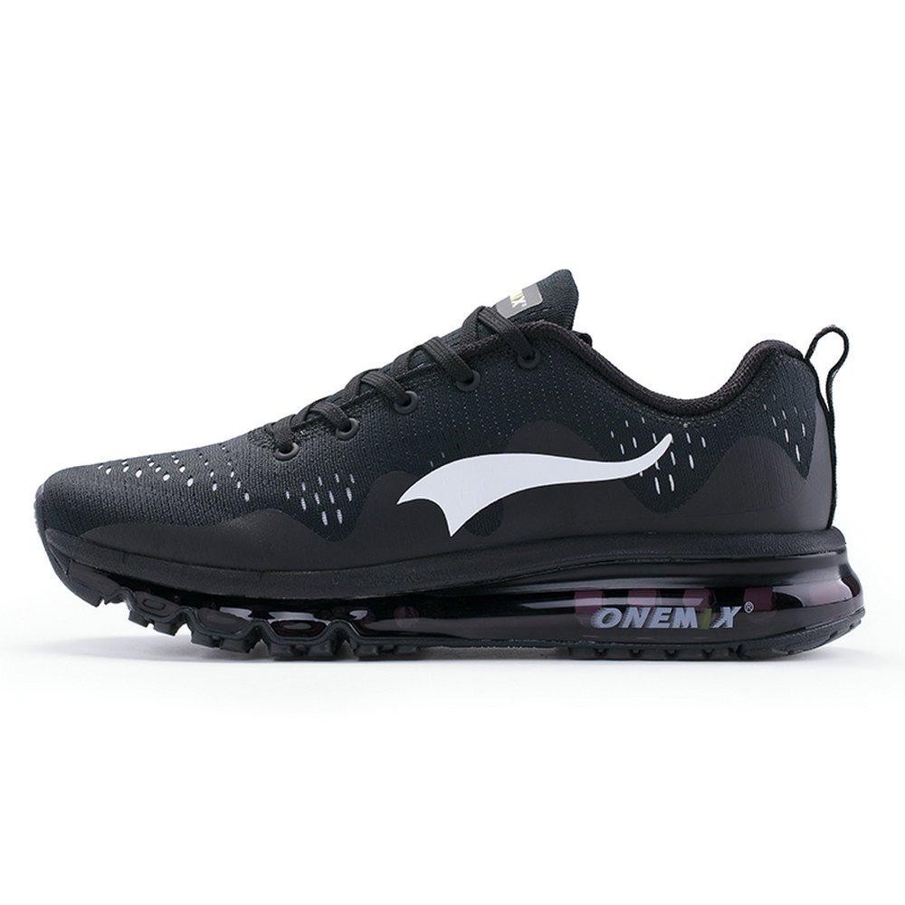 Onemix Zapatos para Correr Hombre Mujer Deportes Zapatillas de Running Sports Shoes New Wave Air Sneakers 39 EU|Negro