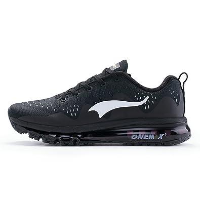 Onemix Air Zapatillas de deporte Zapatos para Correr y Asfalto Aire Libre y Deportes Calzado Running para Hombre Mujer Negro Blanco Verde Azul: Amazon.es: ...