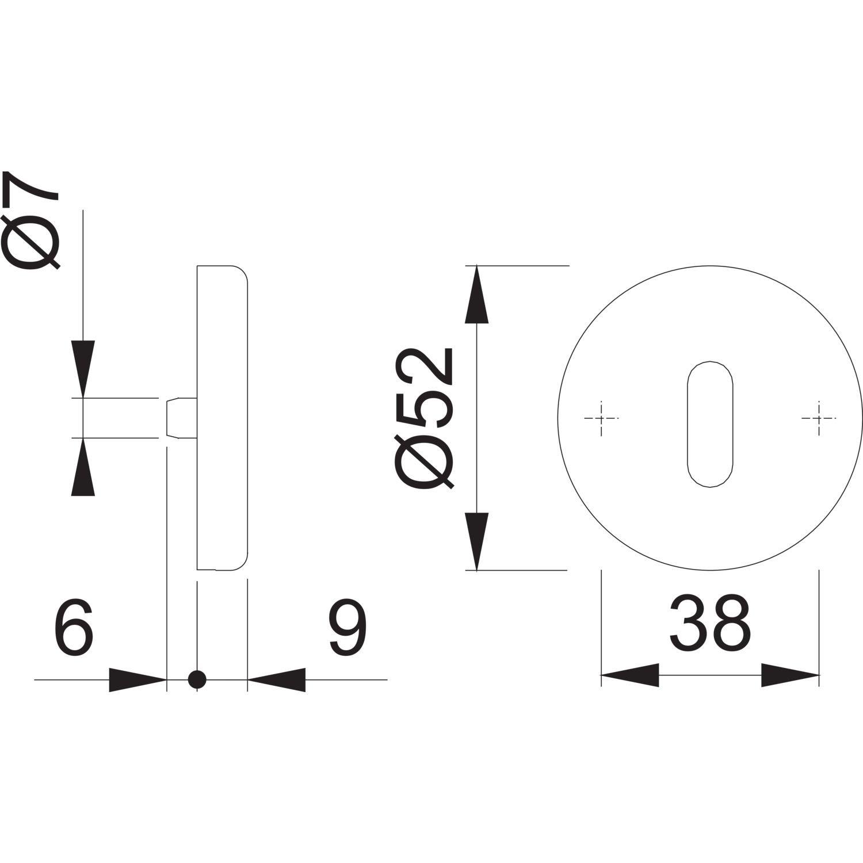 Hoppe rond de rosace cylindre profil/é 542550