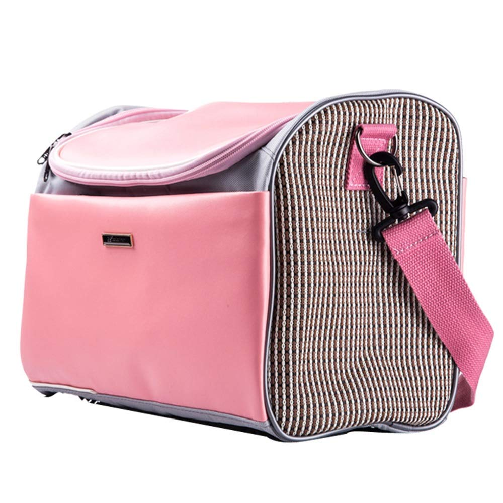 Pink LHYUE Pet Bag Dog Out Travel Portable Dog Cage Pet Backpack Hand Bag Pet Travel Backpack,Travel Portable Cage Backpack Hand (color   Yellow, Size   L)