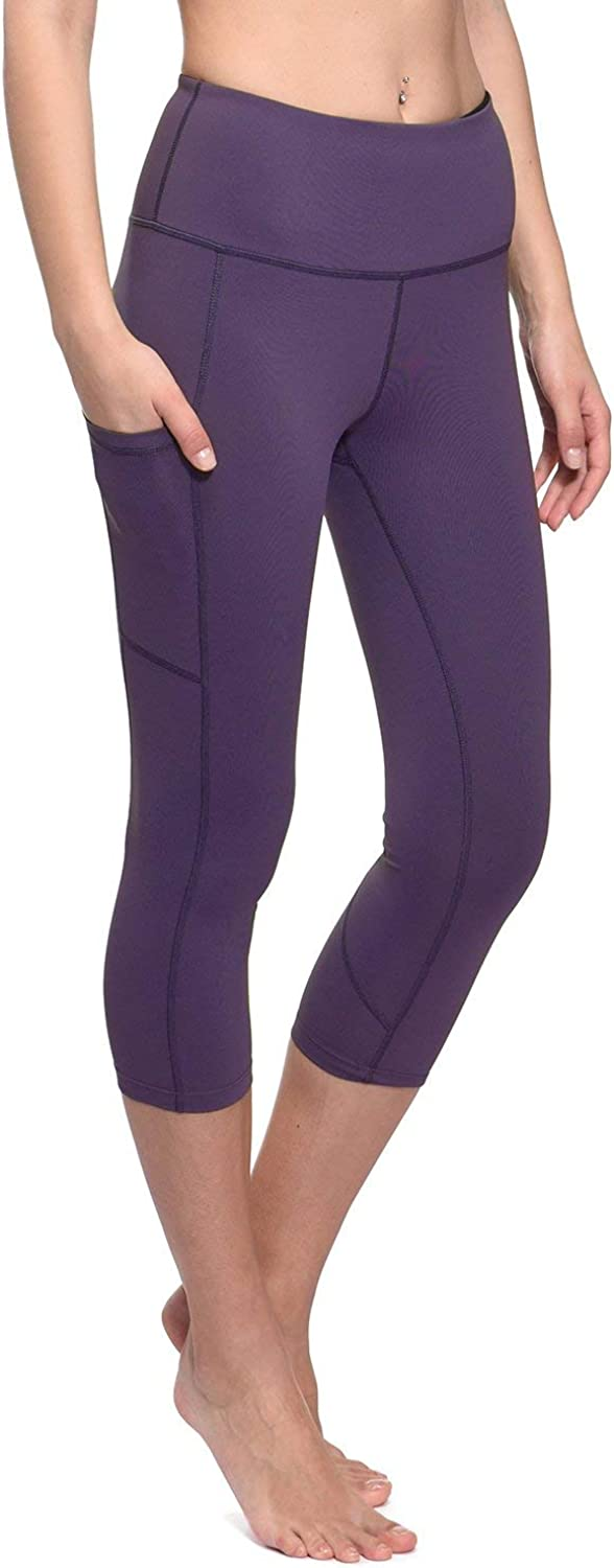 BALEAF Womens Workout Yoga High Waist Capris Pocketed Cropped Leggings 3//4 Exercise Athletic Tights