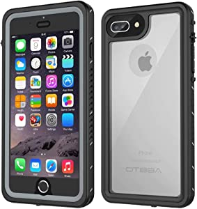 OTBBA iPhone 7 Plus/8 Plus Waterproof Case, Underwater Snowproof Dirtproof Shockproof with Touch ID Full Sealed Cover Waterproof Case for iPhone 7 Plus/8 Plus-5.5in (Clear)