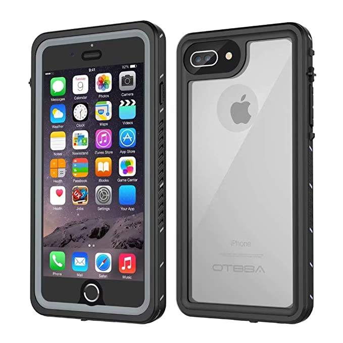 buy popular bc7e1 10a39 iPhone 7 Plus/8 Plus Waterproof Case, OTBBA Underwater Snowproof Dirtproof  Shockproof IP68 Certified with Touch ID Full Sealed Cover Waterproof Case  ...