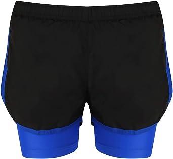 Pantalones cortos 2en 1para hacer deporte, transpirables, para mujer