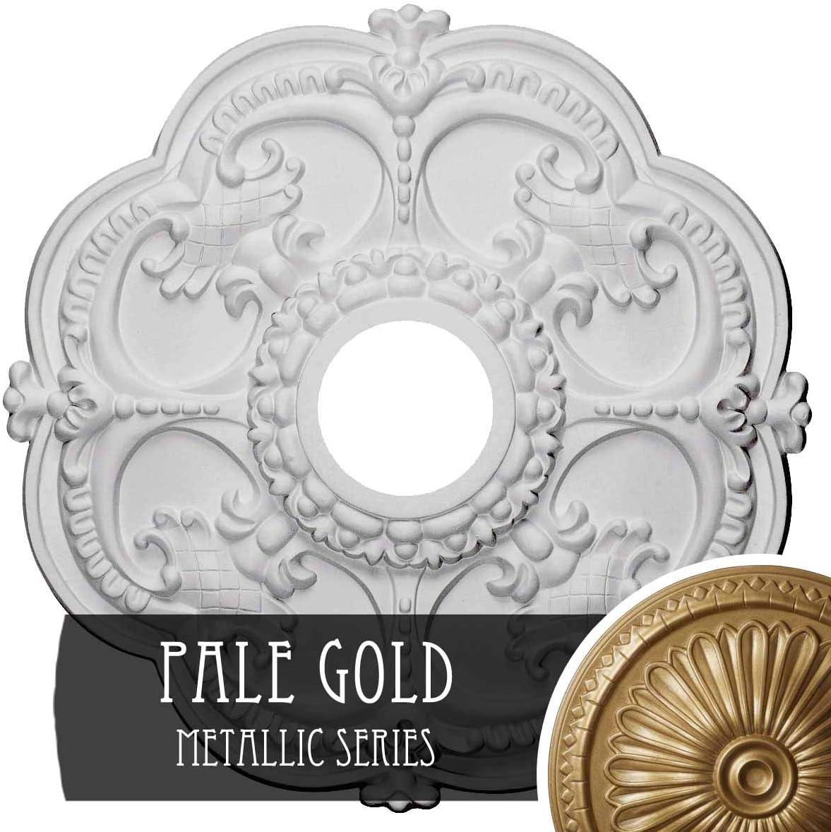 PharaohS Gold Ekena Millwork CM17ROPGS Rotherham Ceiling Medallion
