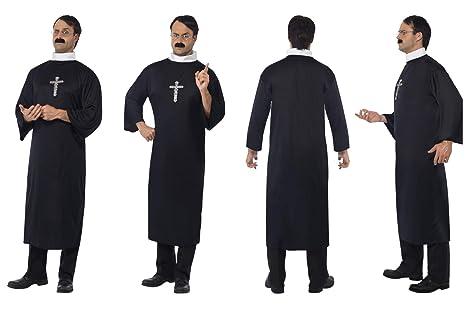 Disfraz de Sacerdote Negro con túnica y Collar 20422 Inc Free ...