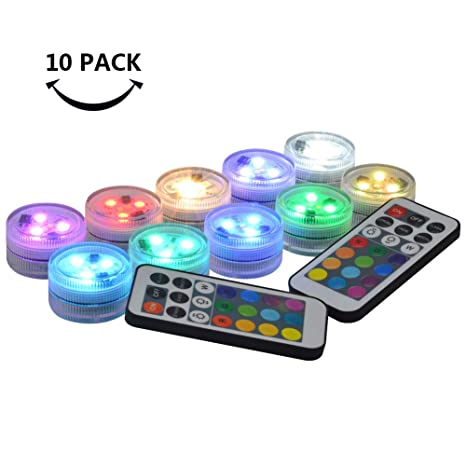 Lights & Lighting Strong-Willed Rgb Submersible Lights 24 Keys Remote Control Wireless Pond Underwater Lights Multi Color Battery Operated Light 10led