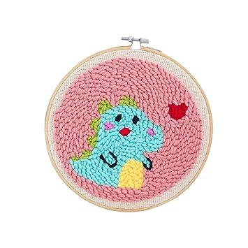 Yamix Rug Hooking for Beginners DIY Latch Hook Kit Punch Needle Starter Kit Knitting Arts /& Crafts Yarn Gift for Kids Teens Adults Girls Boys Boy