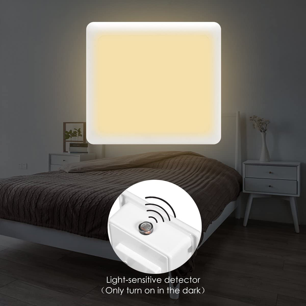 Dusk to Dawn Sensor Soft White Sensor Night Light Mini 3000K LED Nightlight for Bedroom LOHAS LED Night Light Plug in Kitchen Hallway 40 Lumen Kid Room Bathroom Stairs 6 Pack Nursery