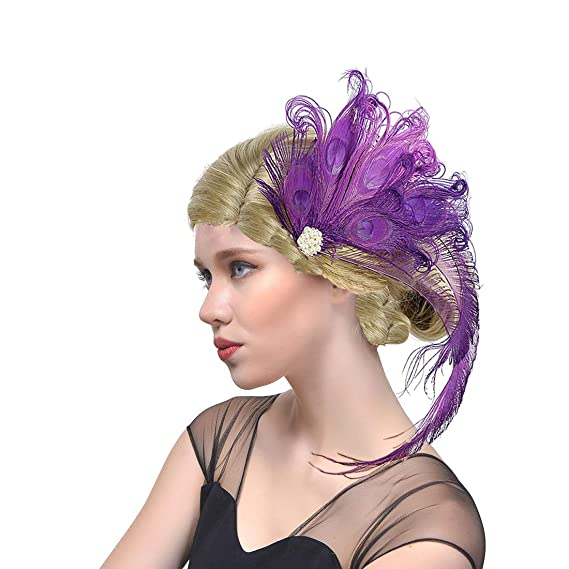 Bridal Flapper Peacock Stirnband Kopfschmuck der 1920er Jahre