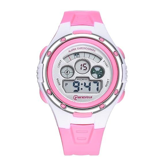 806db260c Niño Cronómetro digital,Reloj deportivo Resistente al agua 30 m vida  Luminoso 24 horas instrucción Calendario Mes de la semana Relojes  electrónicos Hombres ...