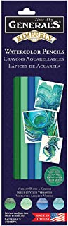 product image for General Pencil, Kimberly Watercolor Pencil Set, 4 Vibrant Blue & Green Colors (770BPK)