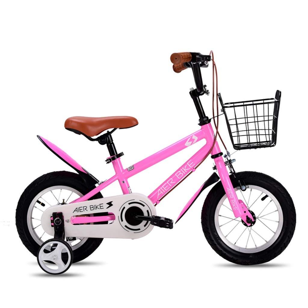 Biciclette per Bambini, Bici per Bambini da 2 a 8 Anni, Triciclo a Pedale per Bimbo, Telaio in Acciaio al Carbonio, 3 Misure (12 Pollici   14 Pollici   16 Pollici) rosa (Dimensioni   14 Inches)