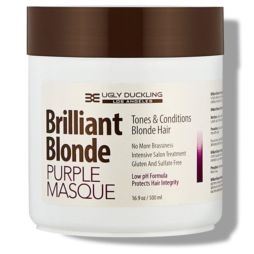 Brilliant Blonde Purple Mask 16.9 oz (500 ml). Tones & Conditions Blonde Hair. Low pH Formula, Sulfate Free, Gluten Free
