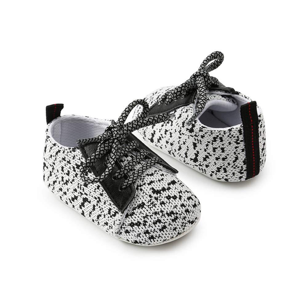 Morbuy Zapatos de Bebe Lino Primeros Pasos, Niño y Niña Recién Nacido Cuna Suela Blanda Antideslizante Zapatillas (13cm / 12-18meses, Blanco): Amazon.es: ...