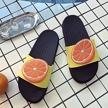 fankou Sandalias de Verano Mujeres Dentro y Fuera de la casa Las Parejas Cute Cool Zapatillas