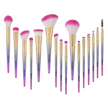 Amazon.com: Docolor Makeup Brushes, 16pcs Professional Fantasy Make up Brush Set Foundation Blending Blush Concealer Eye Shadow Cruelty-Free Synthetic Face ...