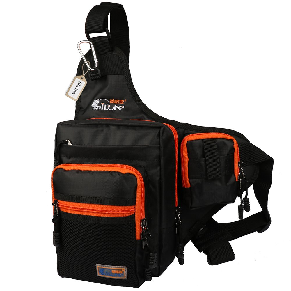 Shelure outdoor sports shoulder bag fishing tackle waist for Fishing tackle backpack