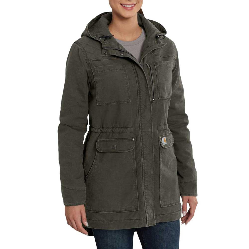 Carhartt Women's Crawford Sherpa Lined Coat, Olive, M