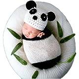 Newborn Boy Girl Baby Photography Props Outfits Photo Shoot Panda Styling Hat Sleeping Bag Set